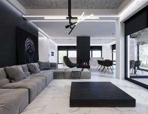Studio Light Design--黑白灰现代简约住宅,简单不失精致!