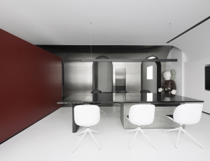 墨然设计 | 黑白魔盒——回归纯粹的简约,让办公流动起来