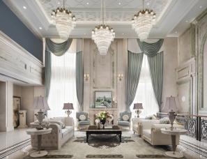 魅无界设计--在3000㎡独栋别墅中,聆享优雅法式生活意境