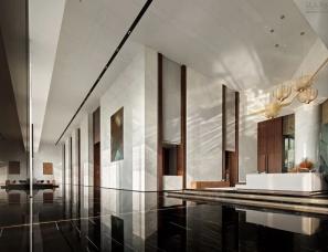 矩阵纵横设计--前海鸿荣源中心·胤璞公寓首层大堂