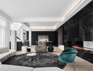 马蹄莲空间设计--南京依云溪谷800㎡独栋别墅