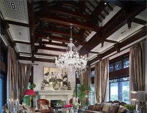 戴昆设计 桃花源西锦园大宅 中式美式混搭