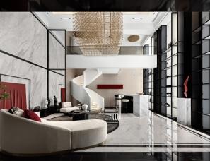 大研建筑设计--天津中海·津门大院样板房220㎡