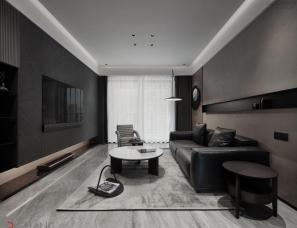 深圳迪尚设计--128平,打造不一样的冷峻现代风