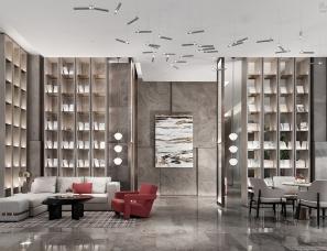 【首发】昊泽空间设计--大东海新天地售楼部