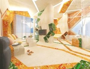 酒店客房室内设计In The Painting-Gemelli Design Studio