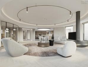 Huerne丨重塑空间关系,90后精英夫妇的家通透又奢适!