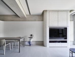 巨程空间设计   一家三口的简约之家