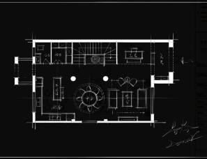 星空|平面优化手稿分享(23)别墅首层