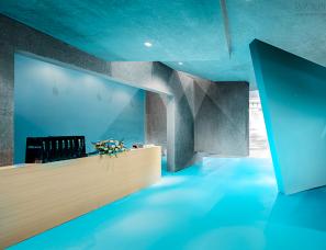 博思道设计--蔚蓝展厅,打通无序与有序的边界