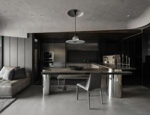 禾邸设计 | 岁时记艺 66㎡高级黑一居室公寓[含平面图]