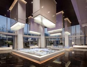 """上海飞视设计--""""新东方+混搭现代""""南京绿地之窗展示中心"""