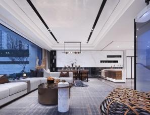 昊泽空间设计--成都·建发麓岭汇34#楼商墅下叠样板间
