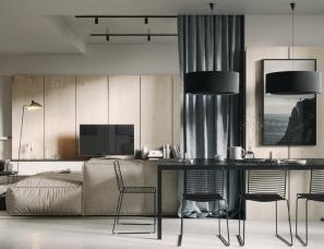 Bogdan Bulgakov--乌克兰基辅现代舒适风公寓