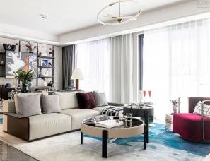 EVD廿象设计--嘉兴阳光城样板房,自由与浪漫的表达