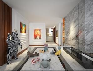 现代美式别墅方案