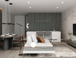 ILKIV Architect--110㎡现代极简公寓设计