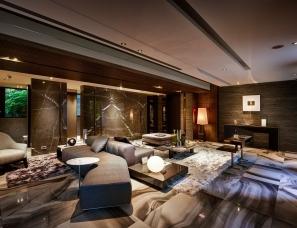 刘荣禄国际空间设计--皇爵建设北投1F接待大厅