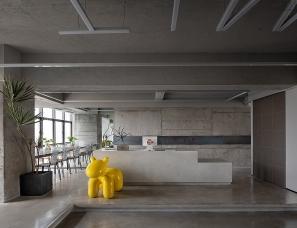 TIME WAR糖果:现代工业风理发店设计
