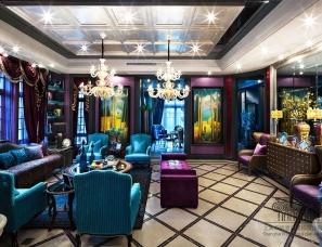 上海鼎族设计-中星红庐别墅样板房,好莱坞风格