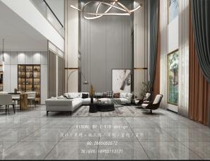 现代别墅-效果图表现案例