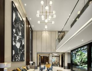 平仄室内设计--新中式别墅样板间