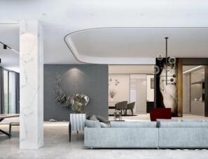 部亚维设计--这个耗资300W的670㎡的大尺度第二居所堪称完美