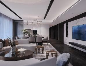 昊泽空间设计--长沙湘江星汇城样板房