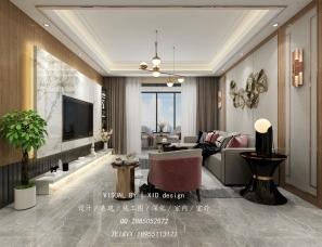 新中式家装效果图表现