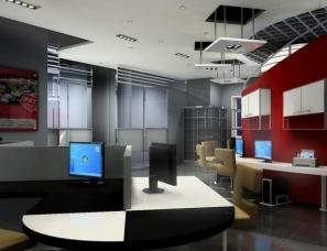 公司办公室设计案例效果图