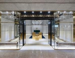 北京人和明天品牌设计--祥荷秀中式手工定制服装店铺