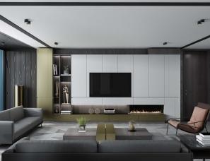 现代极简风格室内定制家具