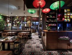"""餐厅设计【艺鼎新作】川式火锅餐厅设计""""花椒遇见辣椒"""""""