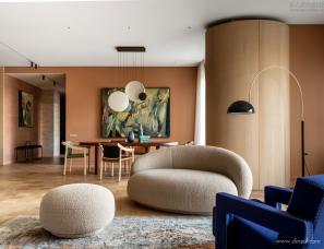 Agnes Rudzite Interiors--莫斯科两套公寓合并