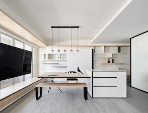 虫点子创意设计--文林北路律师宅 99㎡两室一厅去掉电视墙