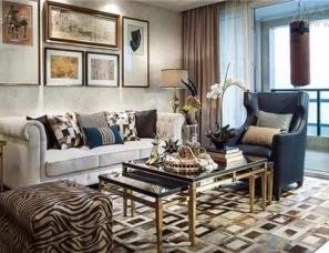 杭州易和室内设计--中天九溪诚品D1美式129㎡样板房