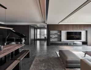 工一设计 | L宅 三代同堂的质感大宅