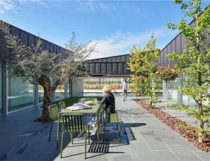 Alventosa Morell Arquitectes--带锌屋顶和大量玻璃幕墙的轻质房屋