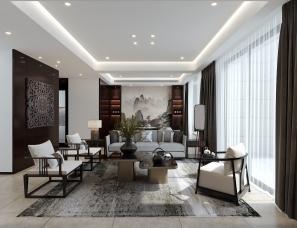 绍兴品玺装饰设计「溪望尚庭」现代新中式