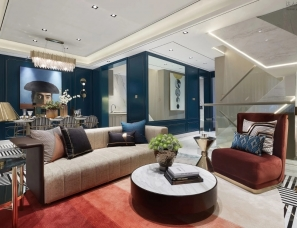 上海飞视设计--中海云麓里叠墅样板间300m²