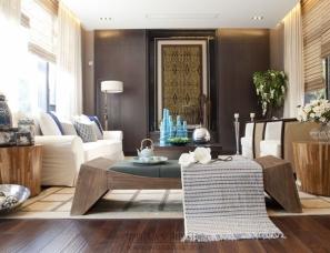 上海乐尚设计 金地格林世界休旅 东南亚风格