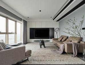 苏州晓安设计  |一道9米落地窗带来的无限风景