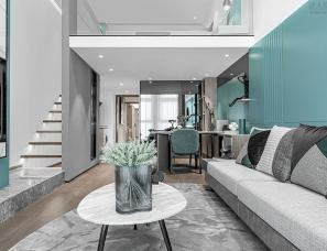 上海孚曼设计--路劲中和广场LOFT公寓样板间48㎡
