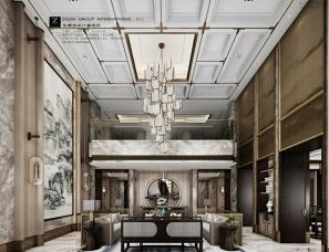 杭州朱赞浩设计--当代新中式《归心》1700平方别墅