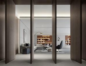 于强室内设计师事务所--深圳卓越前海壹号办公展示体验中心