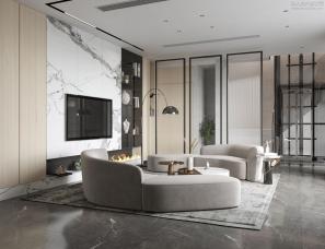 杭州中轶清庭设计||富力壹号排屋||400m²