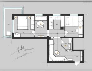 星空|平面优化手稿分享(51)旧房改造