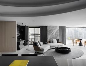 Z轴空间设计--质感黑白灰住宅