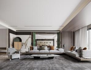 印际空间设计--山东现代风格380㎡私宅