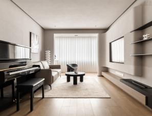 杺舍空间设计--上海退休夫妇的110㎡侘寂风私宅